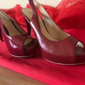 The Exquisite Miss Helen's crimson red Guess heels